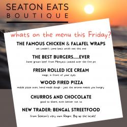 Seaton Eats menu 28 May
